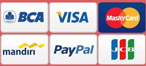 visa, master card, paypall, jcb, debit mandiri, debit bca sewa mobil murah di bali